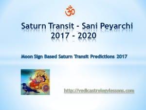 SATURN TRANSIT 2017 to 2020 - SANI PEYARCHI 2017