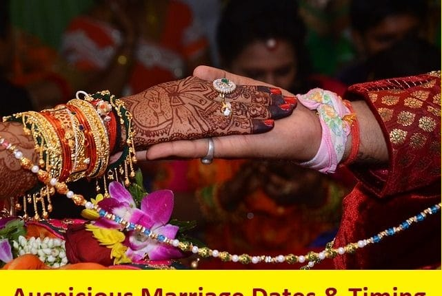 Auspicious Marriage dates & timing in 2019 - Learn Astrology Lessons