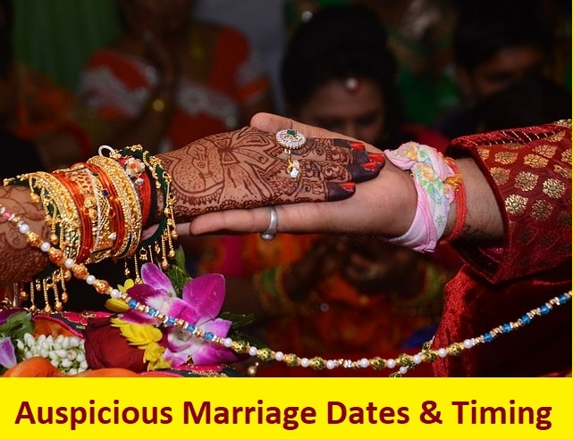 Auspicious Marriage dates & timing in 2019 - Learn Astrology